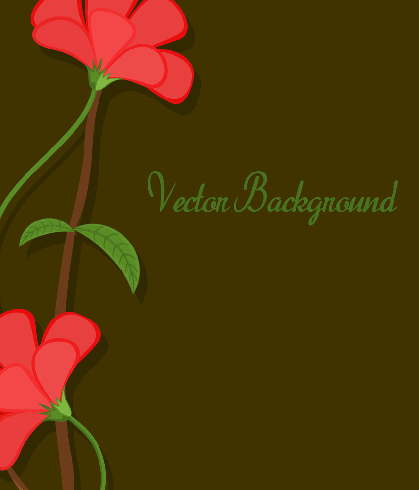 Vector Flowers Greeting Banner