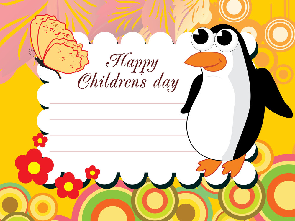Vector For Happy Children's Day Celebration