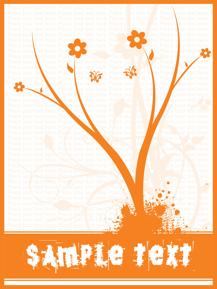 Vector Frame And Floral Background With Place For The Text