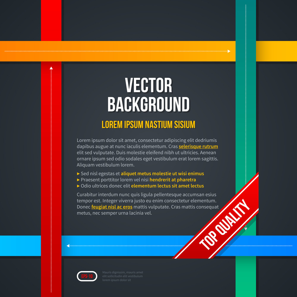 Vector Frame Background With 4 Crossing Lines. Eps10.