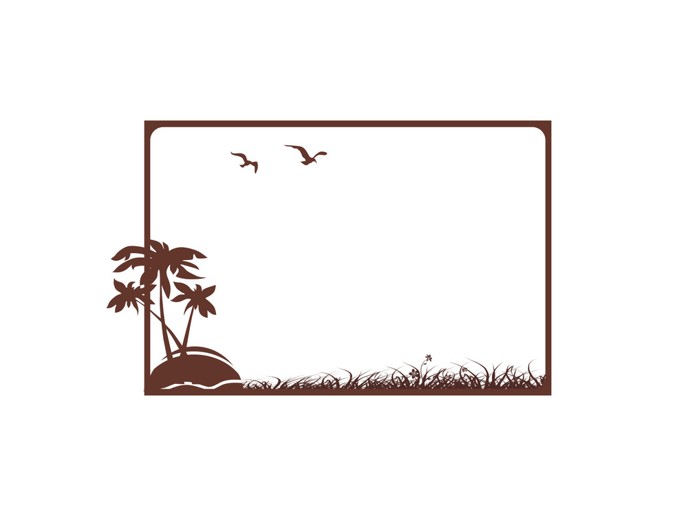 Vector Frame In Nature Background