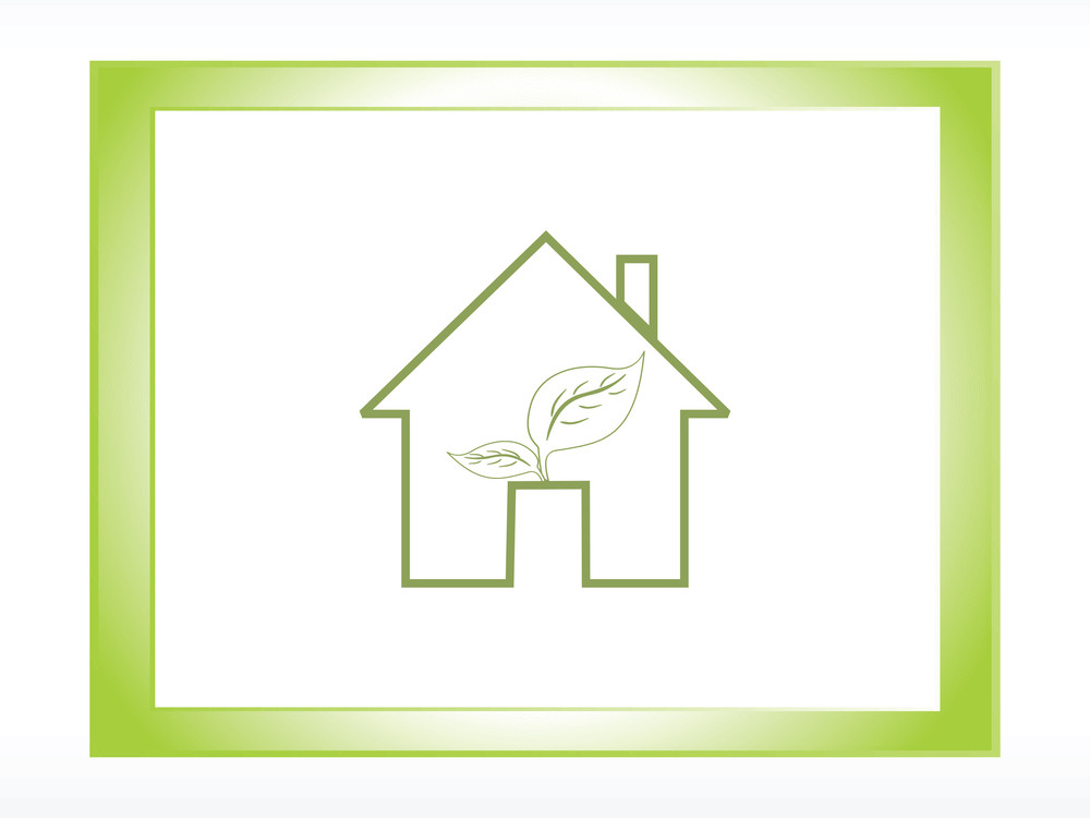 Vector Frame With Ecology House