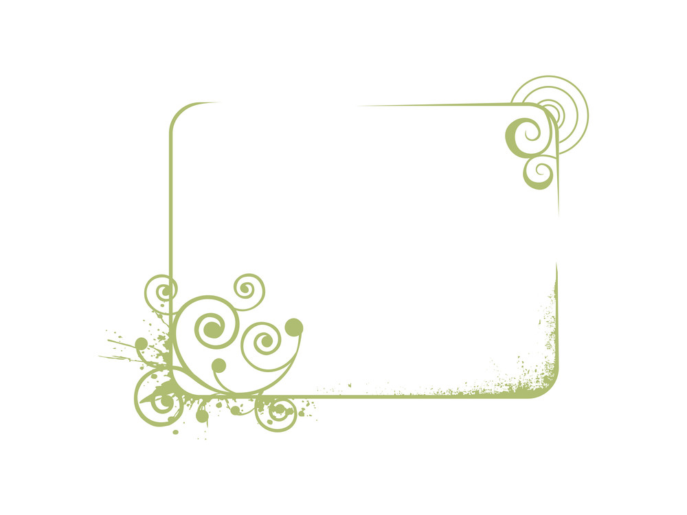 Vector Frame With Flowers And Elements