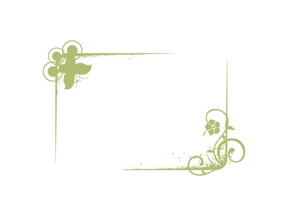 Vector Frames With Design Element In Green
