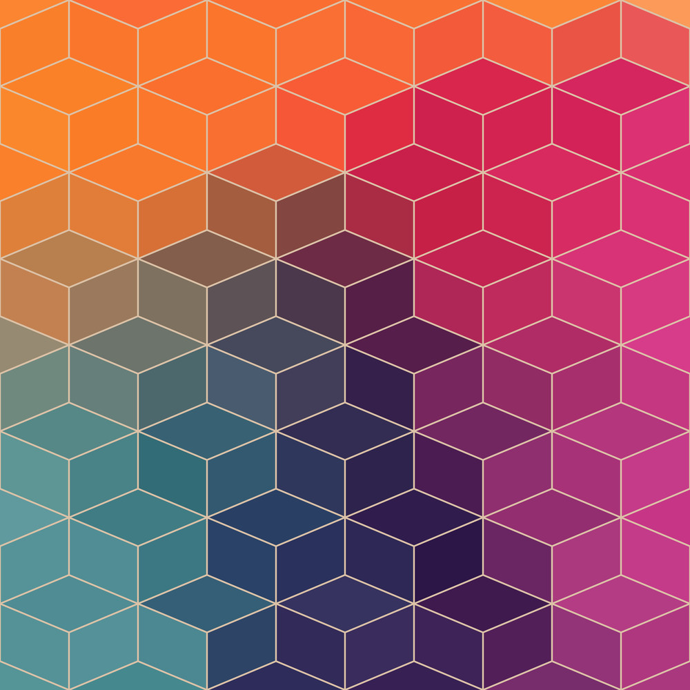 Vector Geometric Pattern With Geometric Shapes