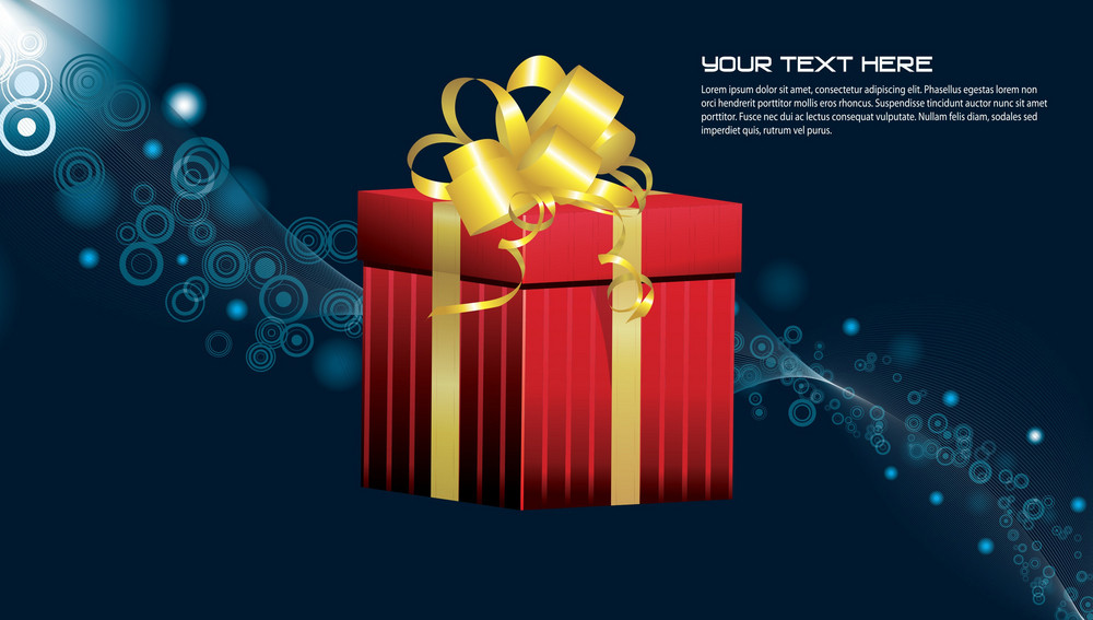 Vector Gift Box With Abstract Background