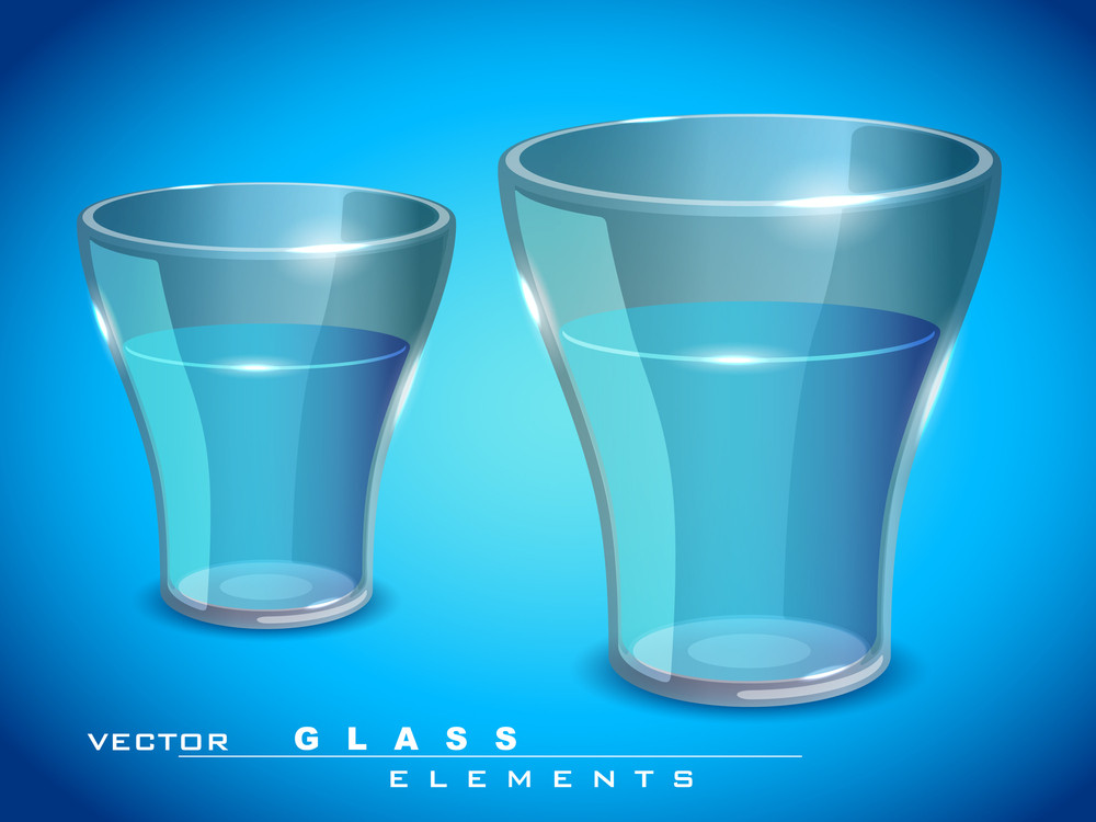 Vector Glossy Glass Of Water