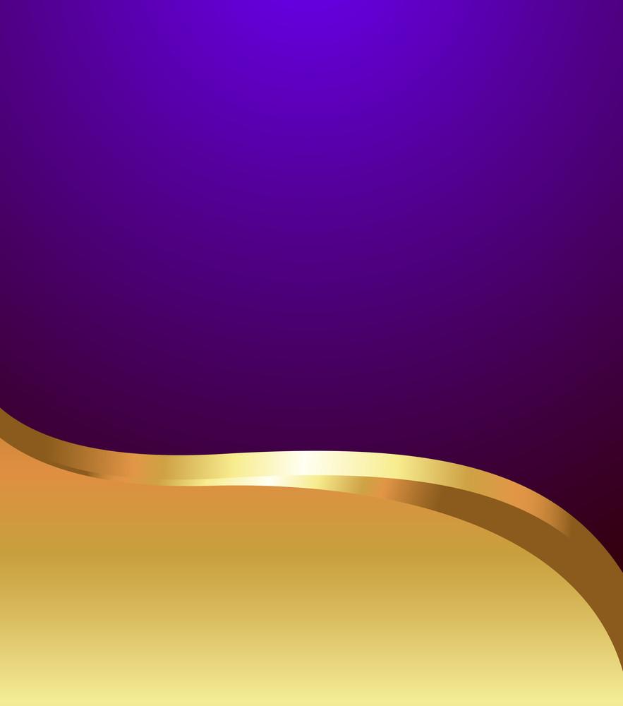 Vector Golden Wave Template