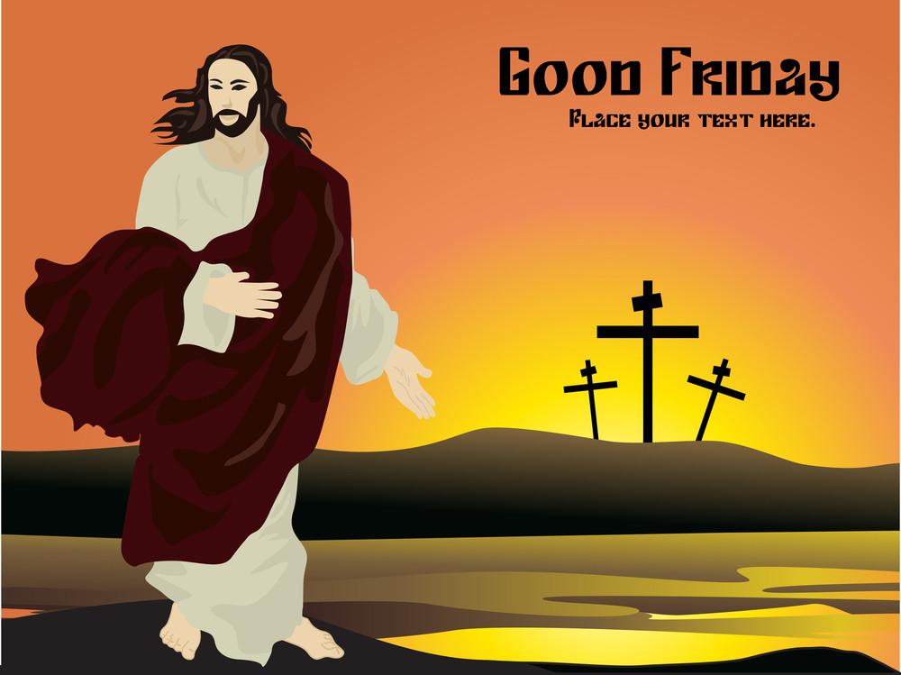 Vector Good Friday Card