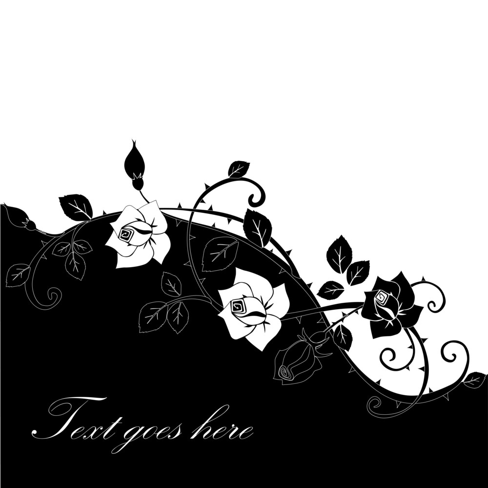 Vector Graphic Of Rose With Leaves