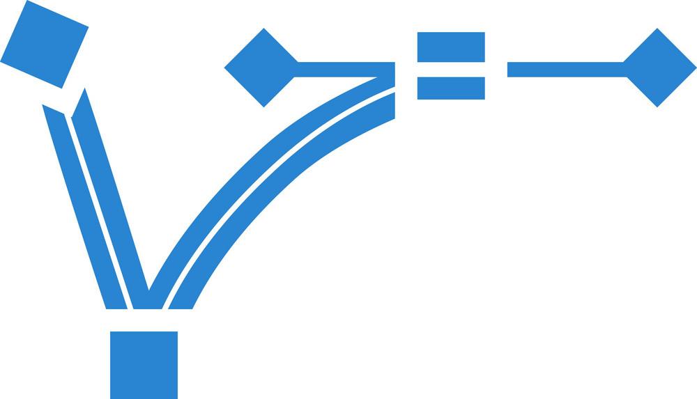 Vector Graphic Path Simplicity Icon