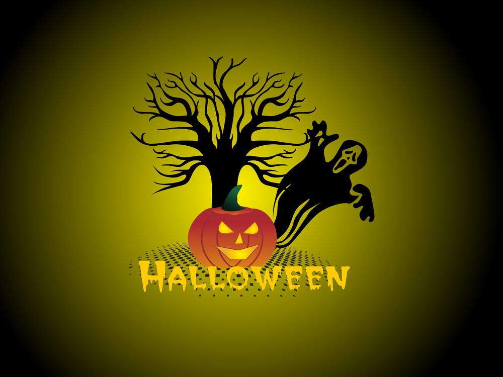 Vector Green Halloween Background
