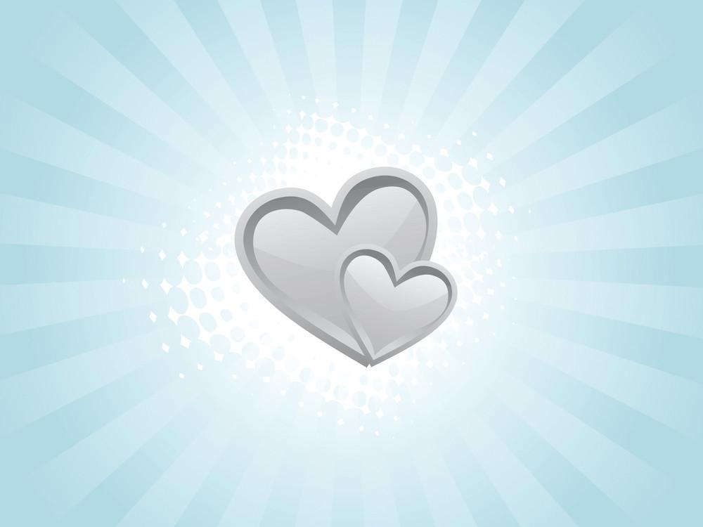 Vector Green Valentines Heart Wallpaper