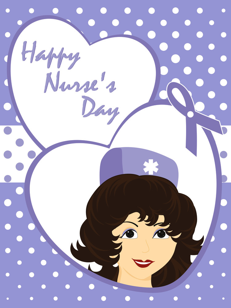 Vector Greeting Card For Happy Nurse's Day