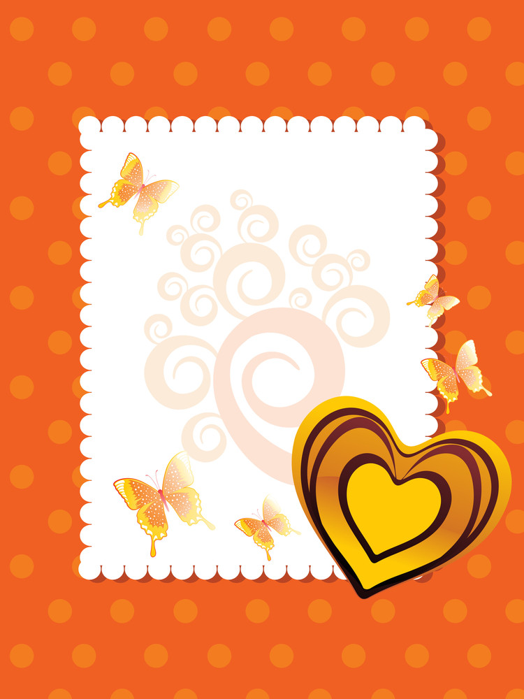 Vector Greeting Card For Valentine Day