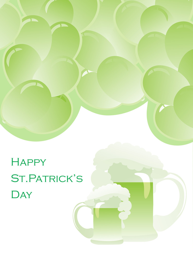 Vector Gretting Card For Patrick Day