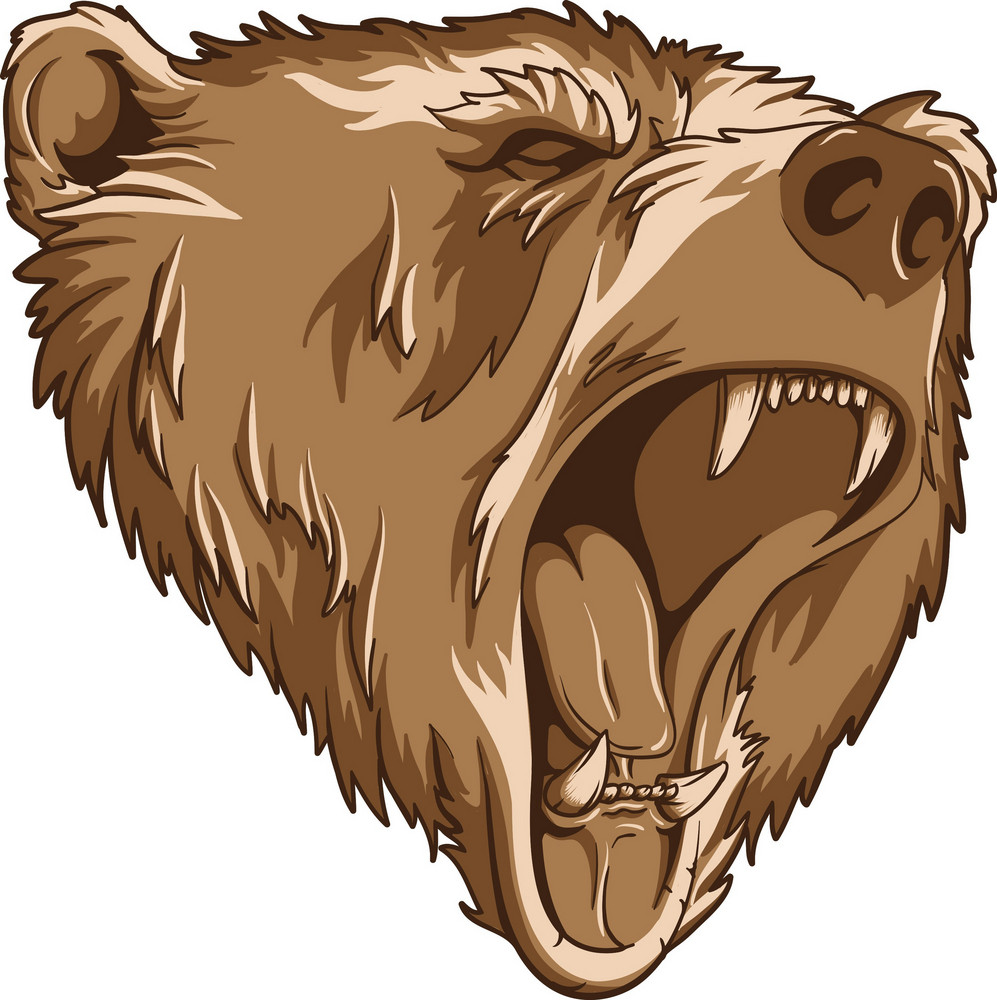 Vector Grizzly Bear