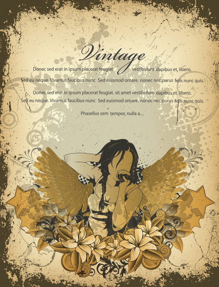Vector Grunge Concert Poster With Singer