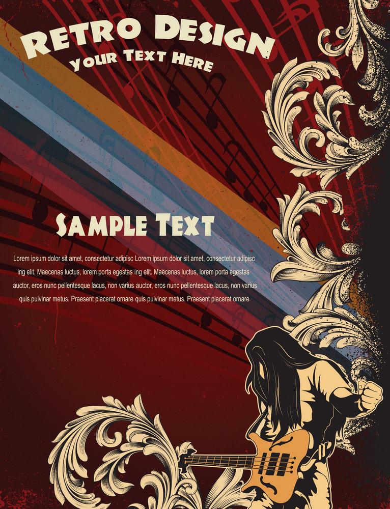 Vector Grunge Concert Poster