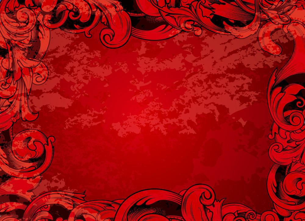 Vector Grunge Floral Background