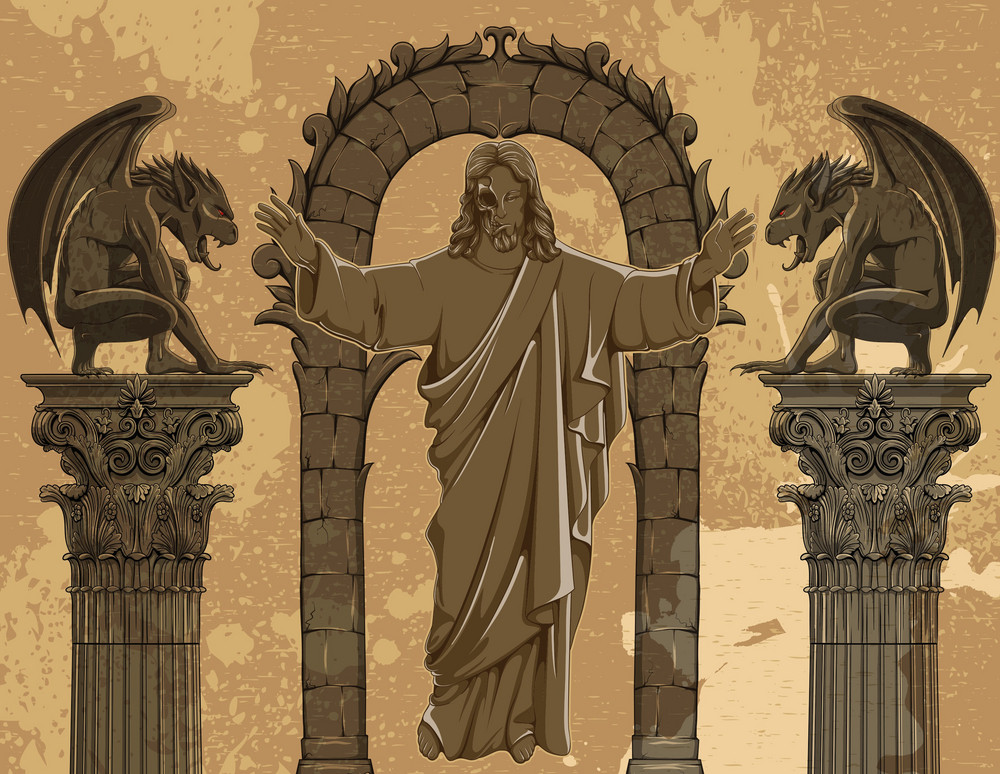 Vector Grunge Gothic Illustration
