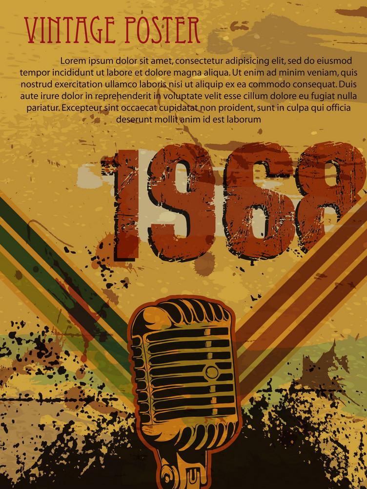 Vector Grunge Retro Concert Poster