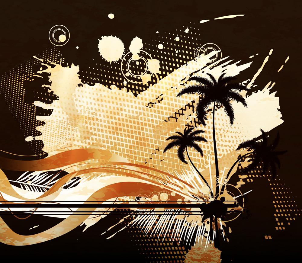 Vector Grunge Summer Background