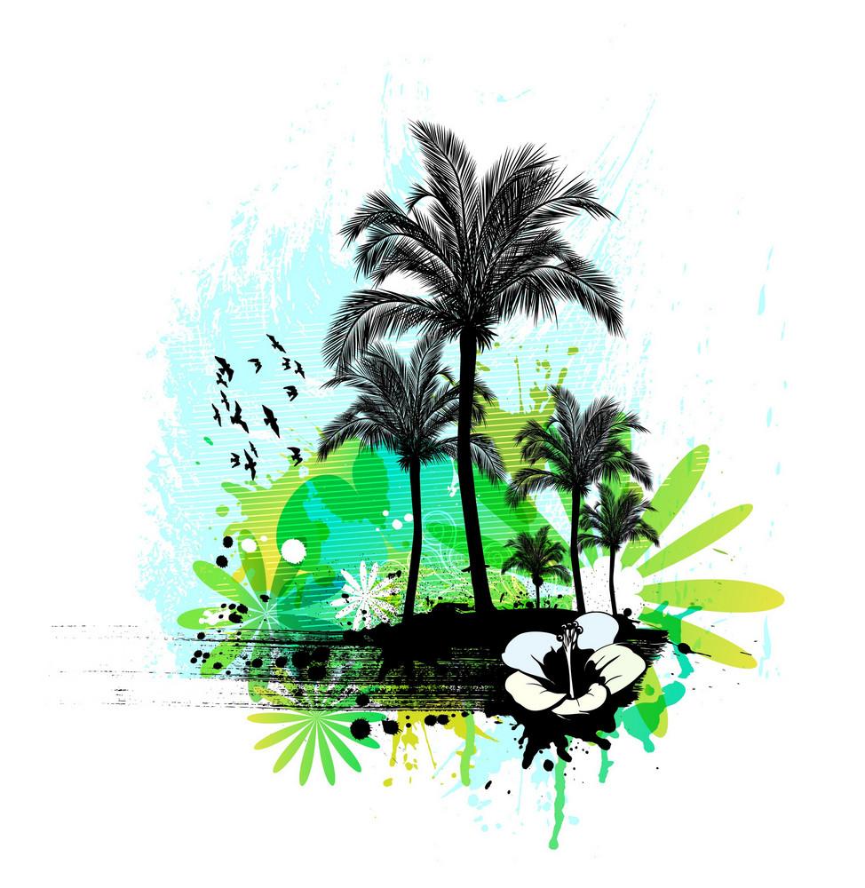 Vector Grunge Summer Illustration
