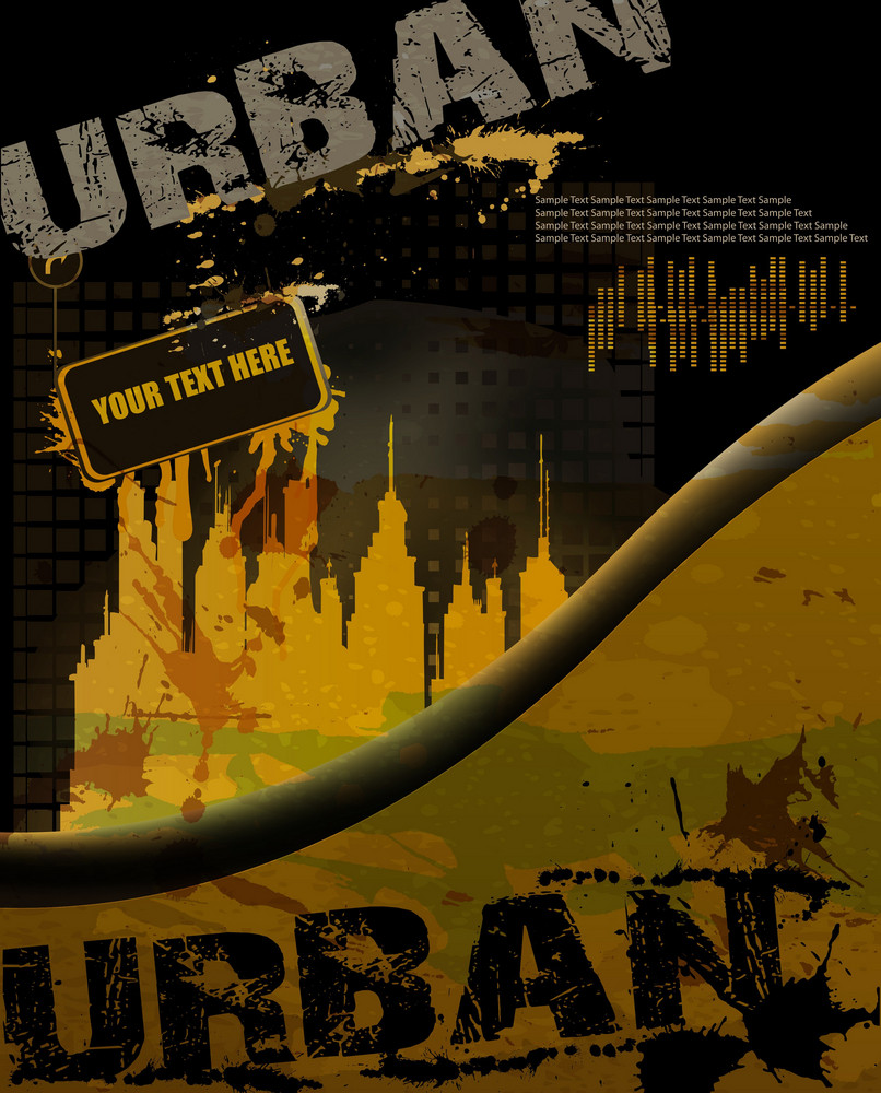 Vector Grunge Urban Background