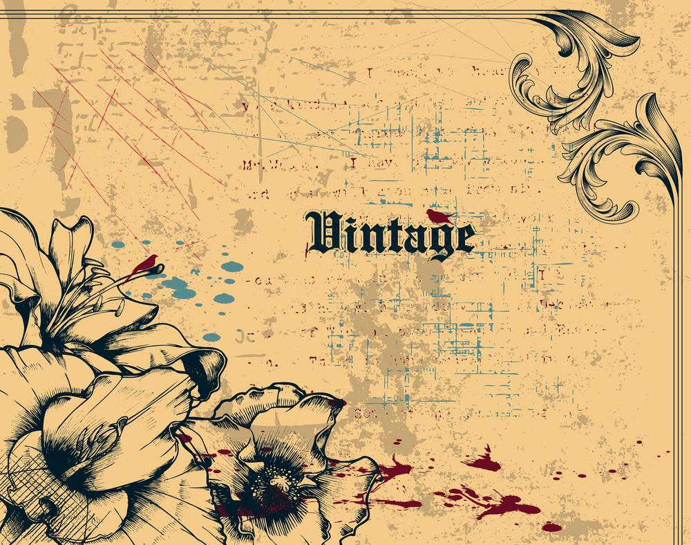 Vector Grunge Vintage Background
