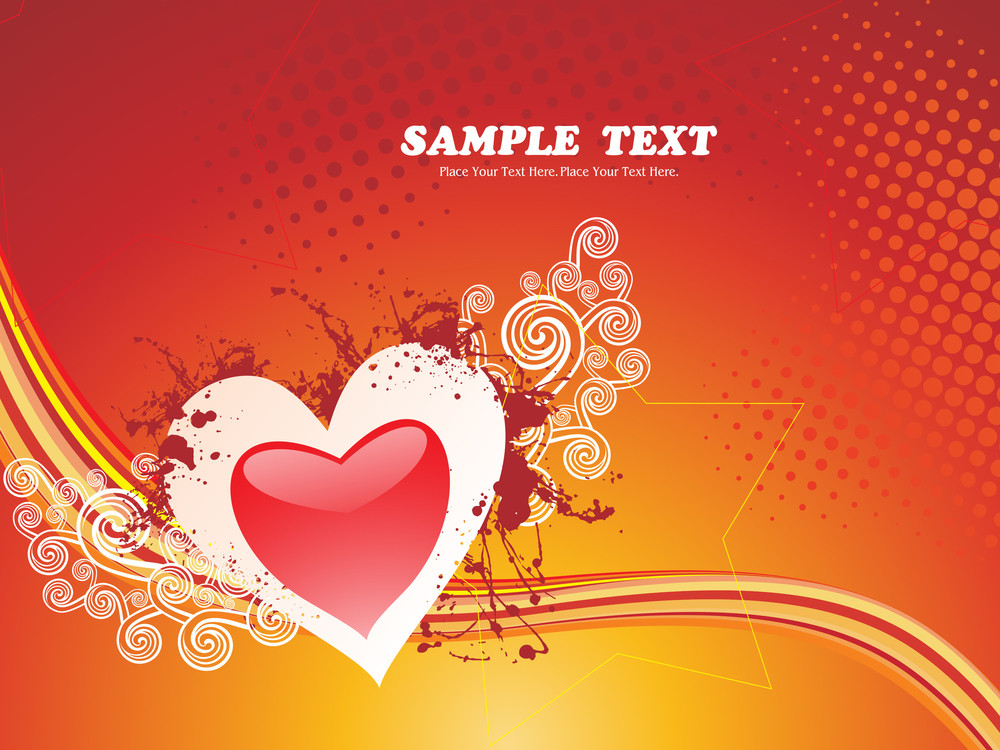 Vector Grungy Love Background