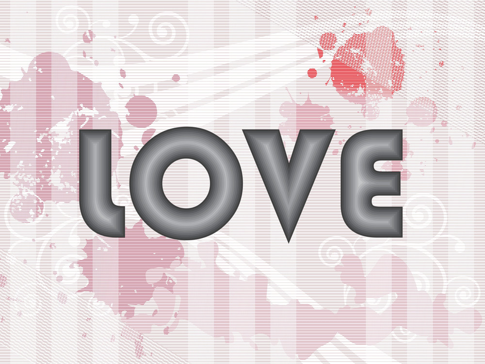 Vector Grungy Spot Background With Love