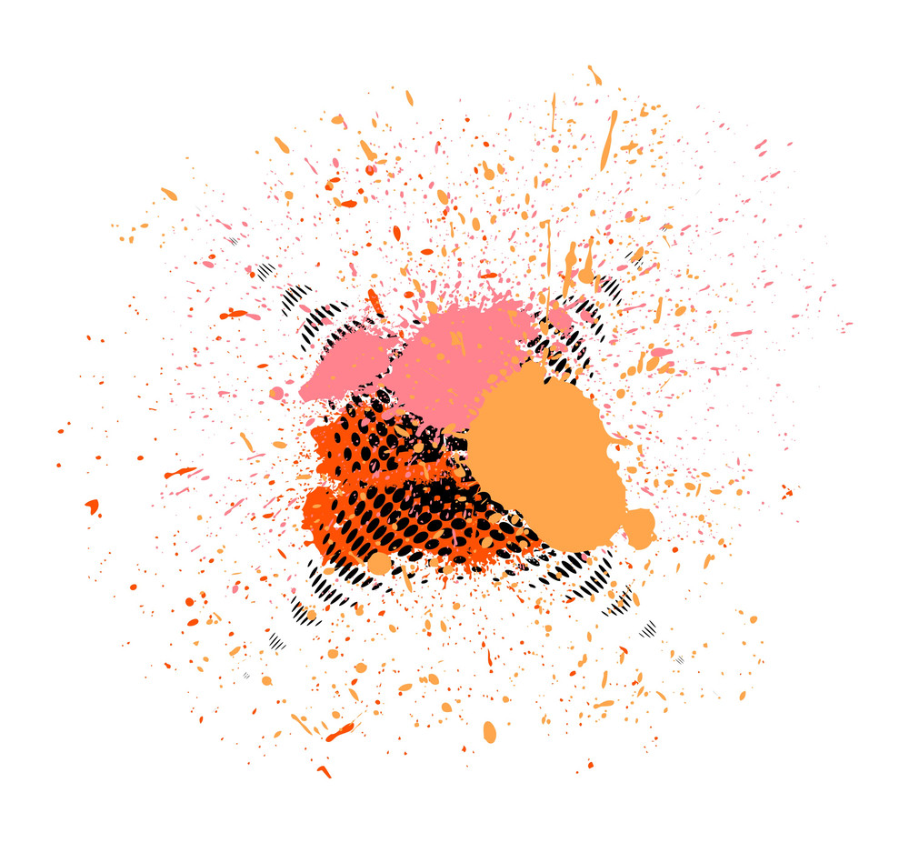 Vector Halftone Splash