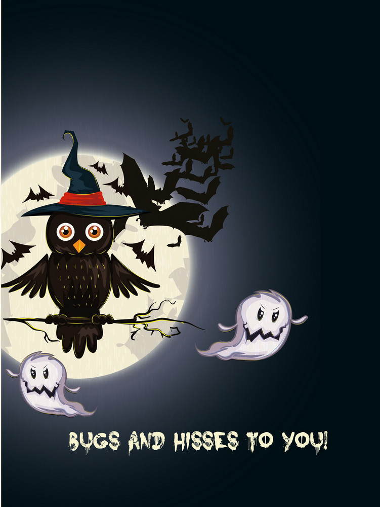 Vector Halloween Background With Bats