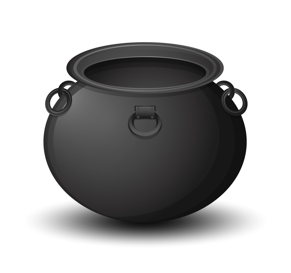 Vector Halloween Cauldron Royalty-Free Stock Image - Storyblocks