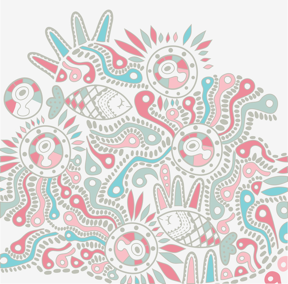 Vector Hand-drawn Abstract Design