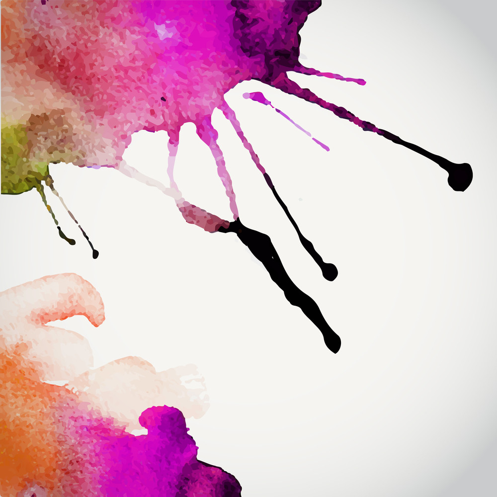 Vector Hand Drawn Watercolor Background