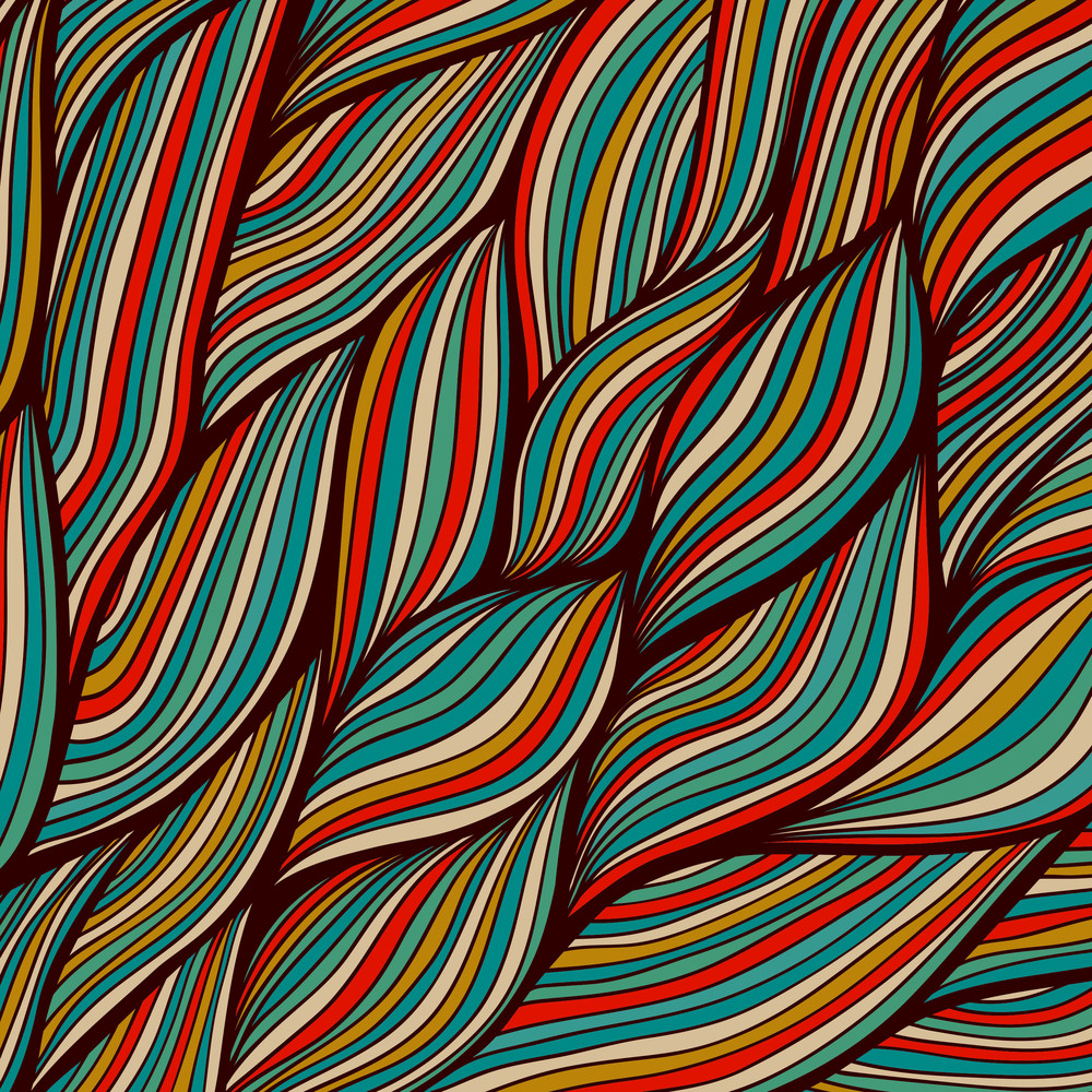 Vector Hand-drawn Waves Texture