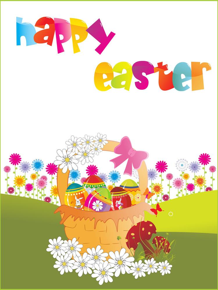 Vector Happy Easter Wallpaper