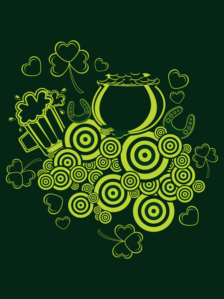 Vector Happy St Patricks Day Pattern Background