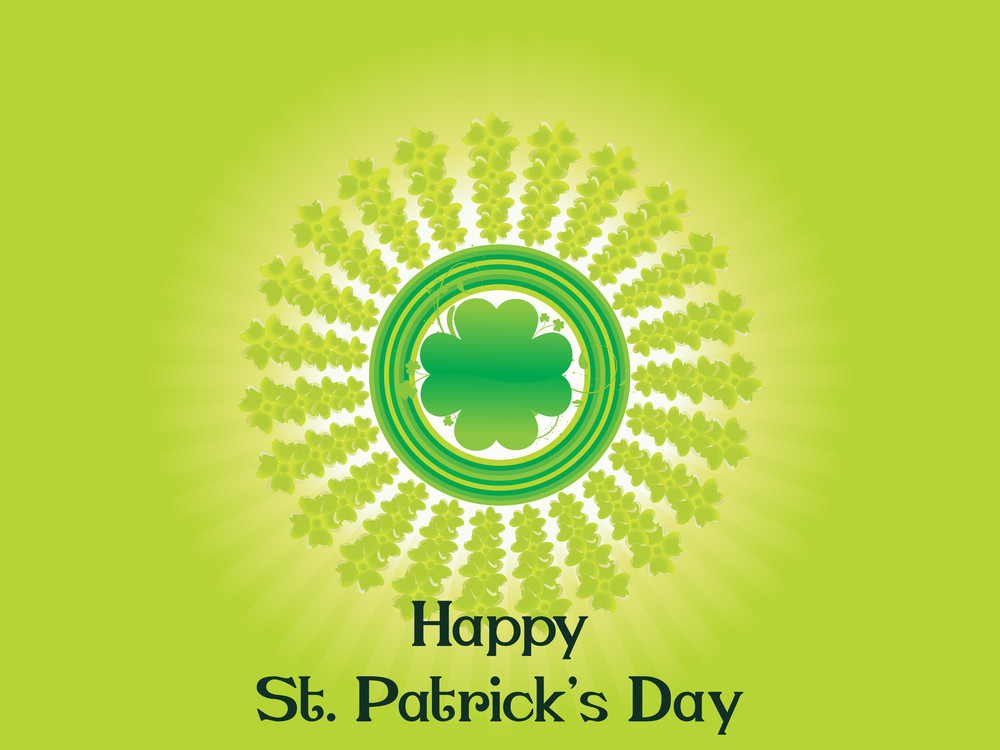 Vector Happy St Patricks Day Wallpaper Royalty Free Stock