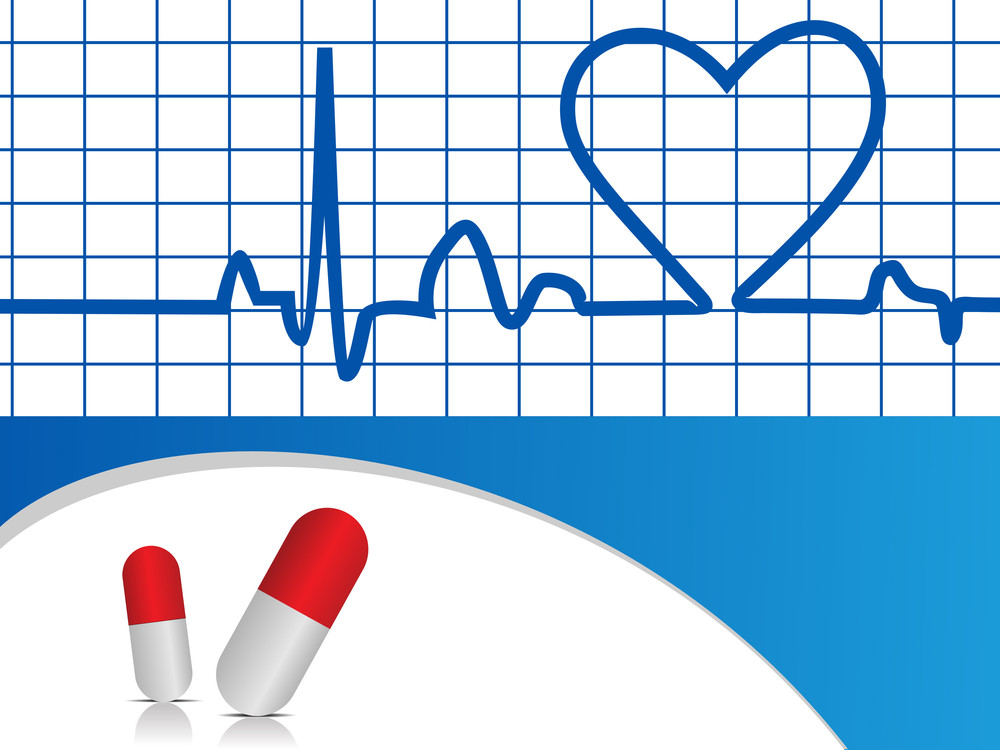 Vector Heart Beat  Illustration With Capsules