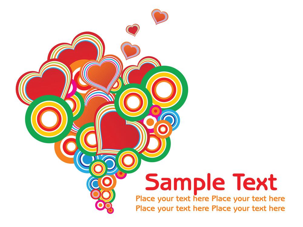 Vector Heart-shape Background Text