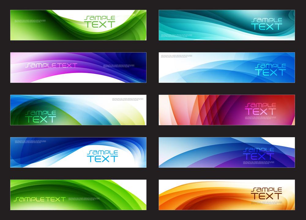 Vector Horizontal Website Banners