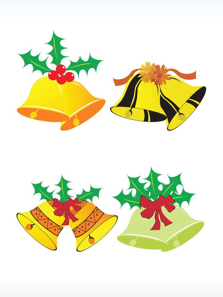 Vector Icon Of Christmas Bells Set
