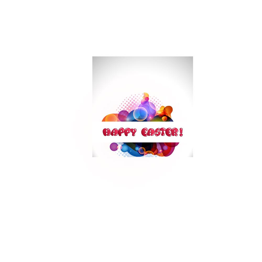 Vector Illustartion Of An Easter Background.