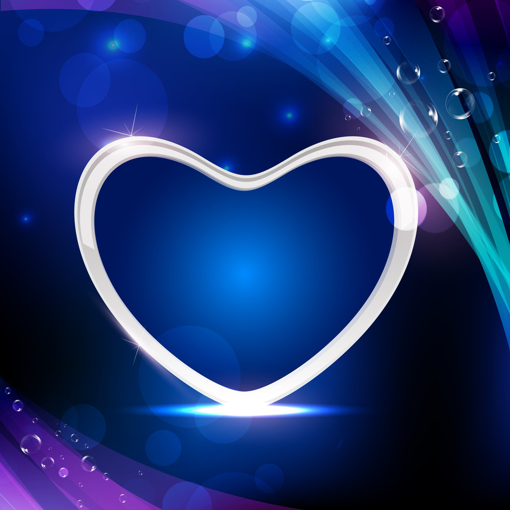 Vector Illustration A Shini Heart On Abstract Background Eps10.