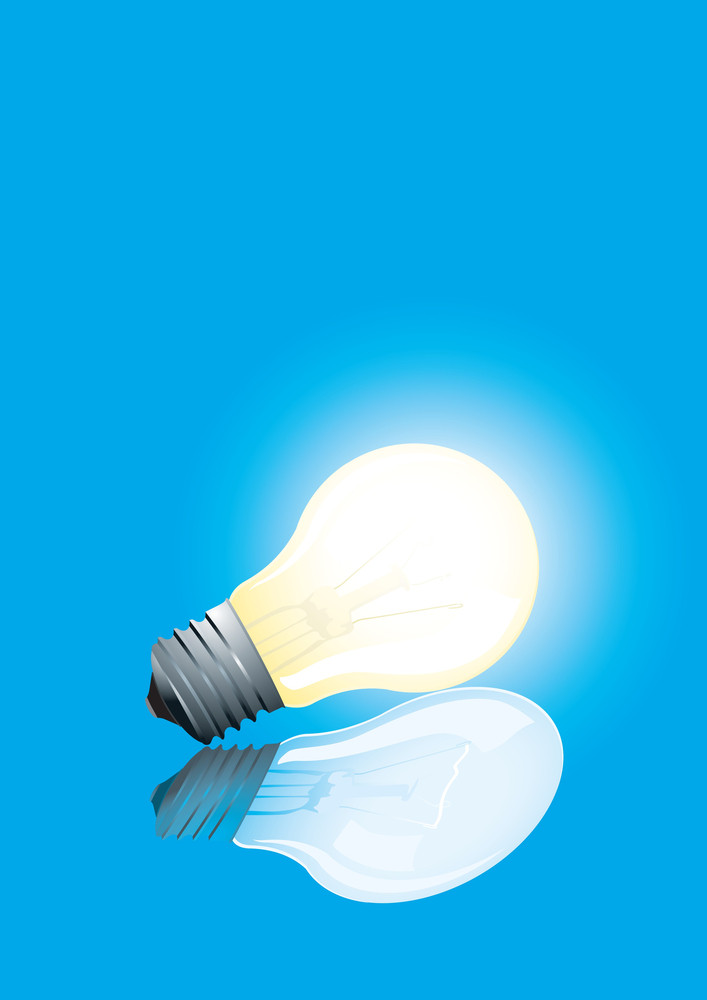 Vector Illustration. Electric Bulb Isolated On White