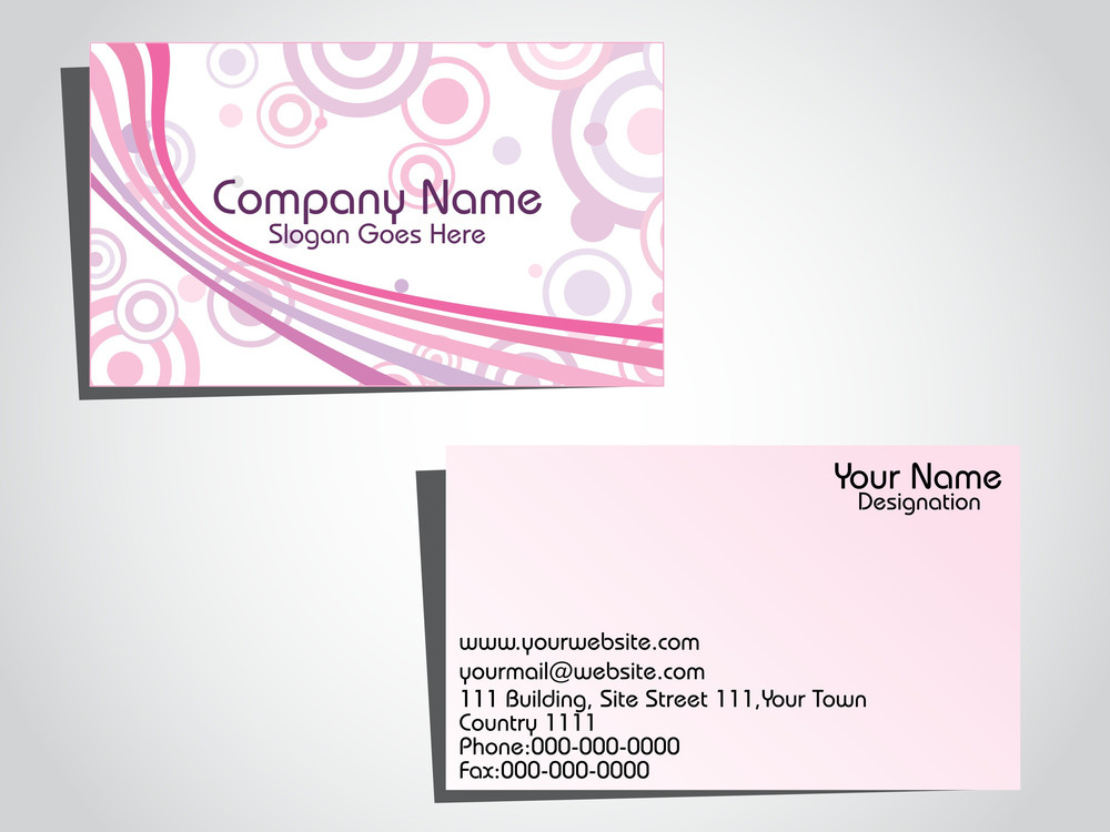 Vector Illustration For Business Card