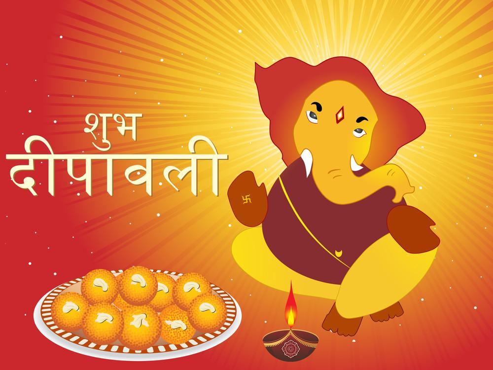 Vector Illustration For Diwali